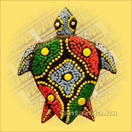 Teknős Hűtőmágnes/Aboriginal Festéssel